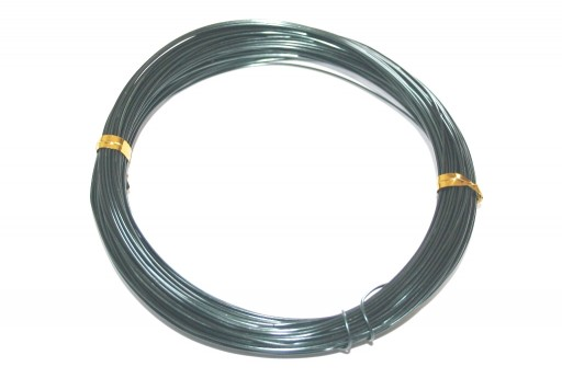 Black Aluminum Wire - Diameter 3,0mm - 5mt