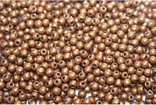 Czech Round Beads - Saturated Metallic Flame 2mm - 150pcs