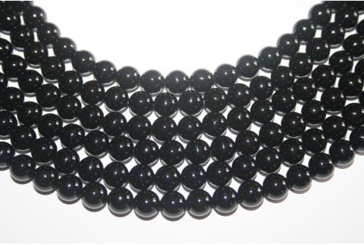 Black Onyx Smooth Round 8mm - 46pcs