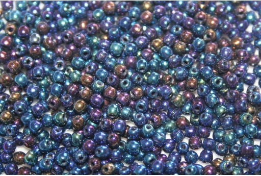 Czech Round Beads - Iris Green 2mm - 150pcs