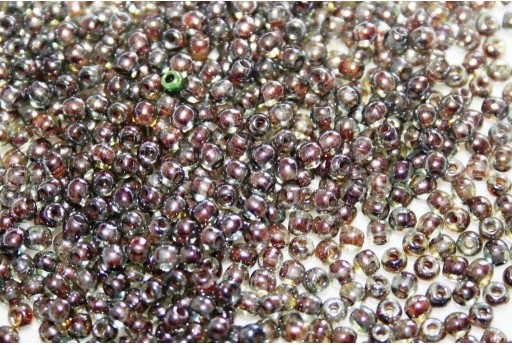 Czech Round Beads - Luster Transparent Green 2mm - 150pcs