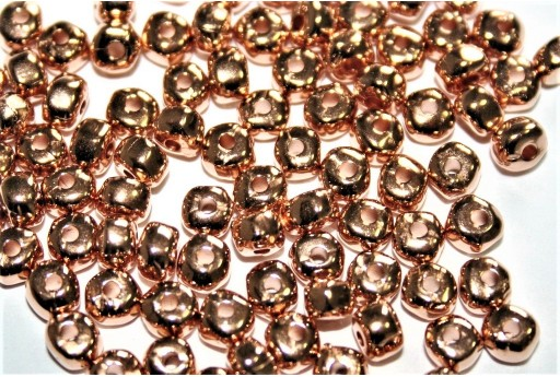 Perlina Irregolare in Zama - Oro Rosa 2,6x4,8mm - 10pz