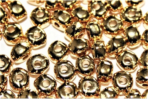 Perlina Irregolare in Zama - Oro 3,6x4,7mm - 8pz