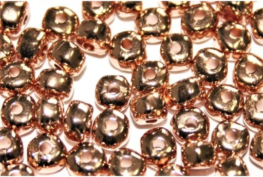 Perlina Irregolare in Zama - Oro Rosa 3,6x4,7mm - 8pz