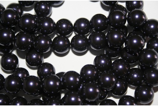 Swarovski Pearls Dark Purple 5810 10mm - 4pcs