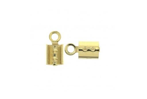 Brass Crimp Ending Gold 3,5x8mm - 16pcs