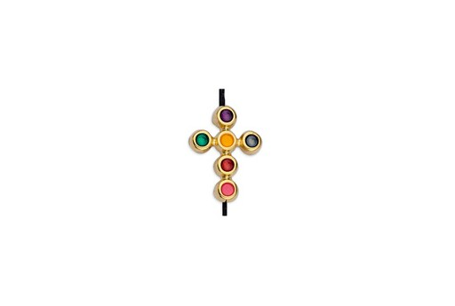 Link Croce Oro Multicolor 11,7x15,6mm