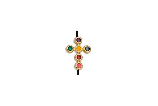 Link Cross Gold Multicolor 11,7x15,6mm