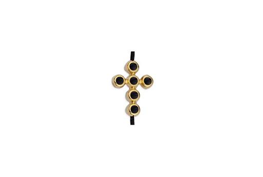 Link Croce Oro Nero 11,7x15,6mm