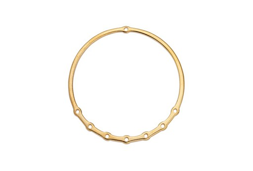 Component Ring Wire With 7 Holes - Gold 60mm