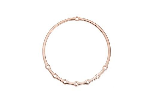 Base Orecchino Cerchio con Fori per Pendenti - Oro Rosa 60mm