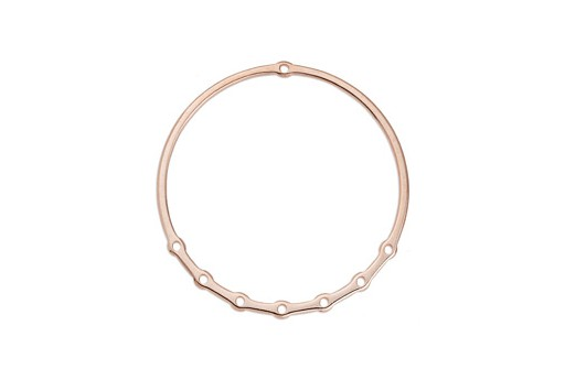 Component Ring Wire With 7 Holes - Rose Gold 60mm