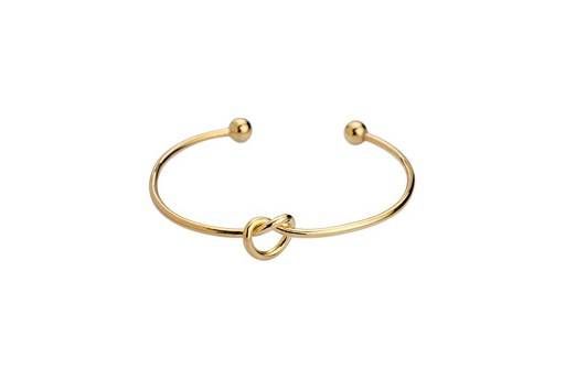 Brass Knot Bracelet - Gold 59mm