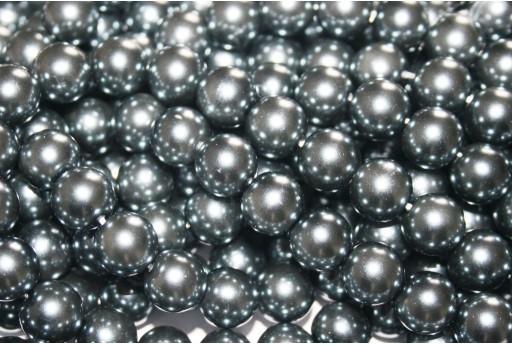 Perle Cerate Vetro Grigio Chiaro 12mm - 34pz