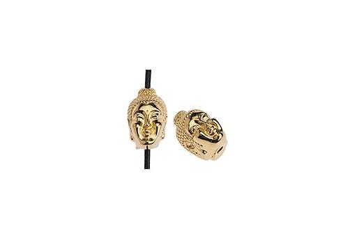 Perlina Metallo Buddha - Oro 7,8x11,5mm - 2pz