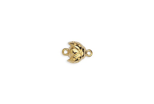 Link Ladybug Open Wings - Gold 10x14mm - 2pcs