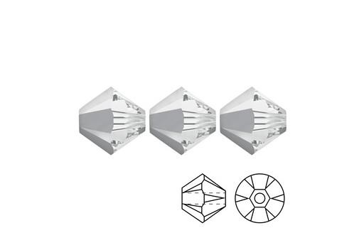 Swarovski Bicones 4mm 20pcs Light Chrome 5328