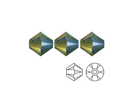 Swarovski Bicones 4mm 20pcs Crystal Iridescent Green 5328
