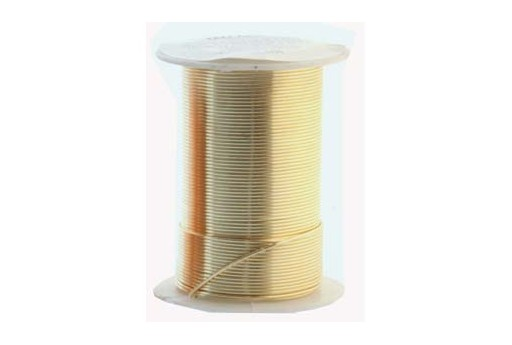 Lacquered Tarnish Resistant Wire Gold 16ga - 8yd
