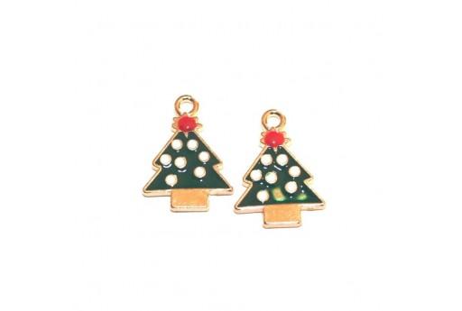 Metal Charms Christmas - Christmas Tree - 20x14mm - 4pcs