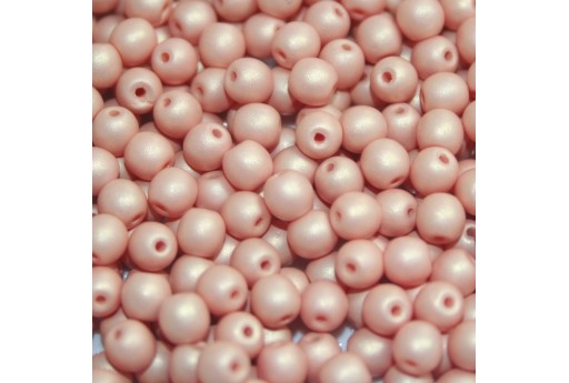 Czech Round Beads - Neon Silk Chocolate 6mm - 50pcs