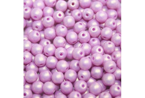 Czech Round Beads - Neon Silk Orchid 6mm - 50pcs