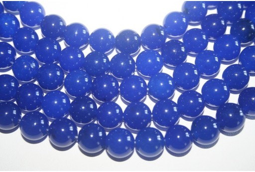 Filo 32 Pietre Giada Blue Lapis Sfera 12mm GI98