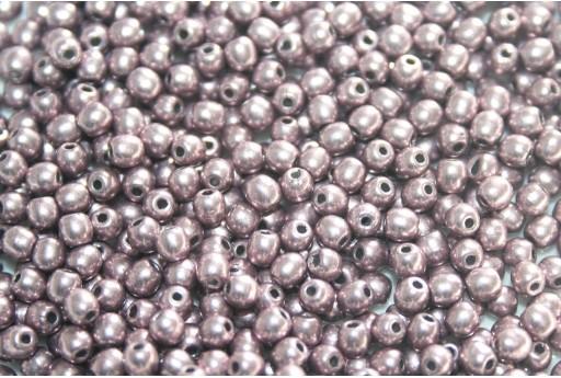 Tondi Vetro di Boemia Sueded Gold Blackened Pearl 3mm - 100pz