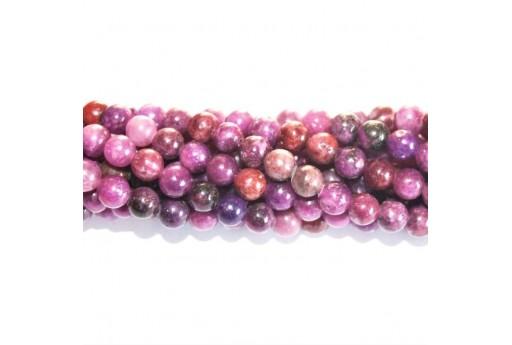 Lepidolite Beads Sphere 8mm - 5pcs