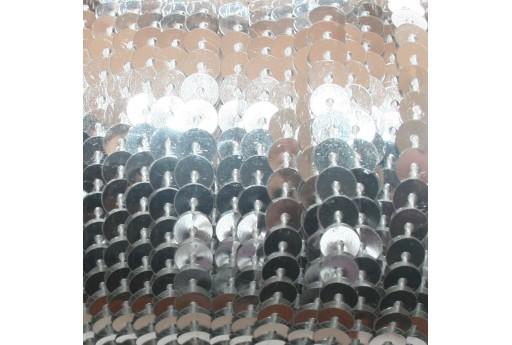 Filo di Paillettes Lisce Metallic Silver 6mm - 2mt