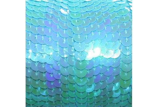 Filo di Paillettes Lisce Azzurro AB 6mm - 2mt