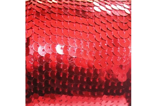 Red Sequins Strand Smooth 6mm - 2mt