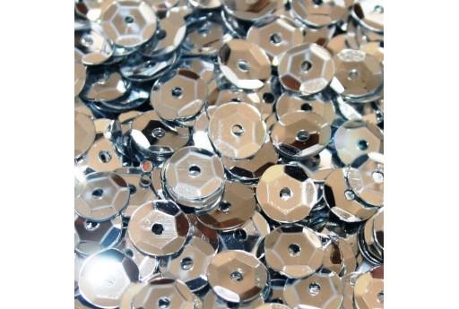 Cuvettes Sequins Silver 6mm - 20gr