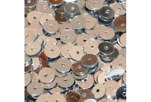 Paillettes Lisce Argento 6mm - 10gr