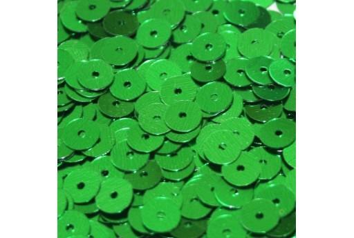 Paillettes Lisce Verde 6mm - 10gr