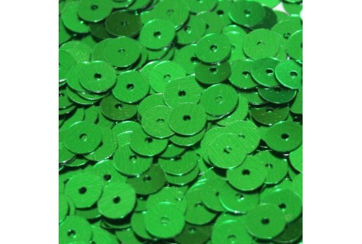 Smooth Sequins Green 6mm - 10gr