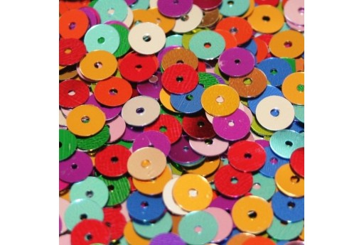 Smooth Sequins Multicolor 6mm - 10gr