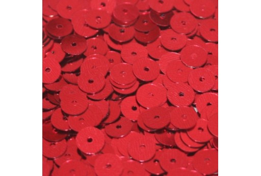 Smooth Sequins Red 6mm - 10gr
