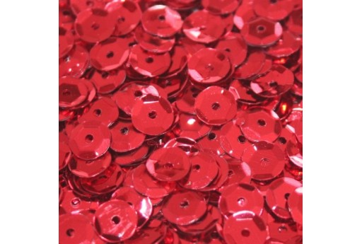 Cuvettes Sequins Red 6mm - 20gr