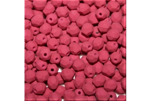 Fire Polished Beads Matte Velvet Purple Wine 4mm - 60pcs