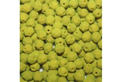 Perline Mezzi Cristalli Matte Velvet Lemongrass 4mm - 60pz