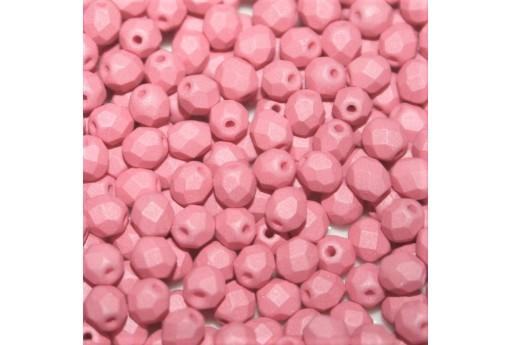 Perline Mezzi Cristalli Matte Velvet Pink 4mm - 60pz