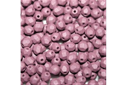 Perline Mezzi Cristalli Matte Velvet Lavender 4mm - 60pz