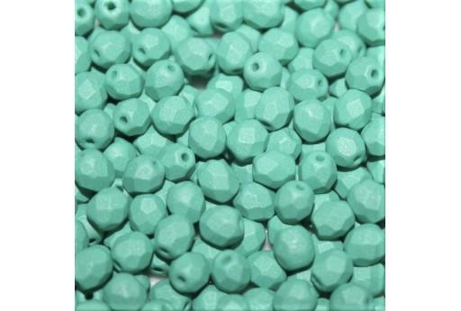 Perline Mezzi Cristalli Matte Velvet Teal 4mm - 60pz