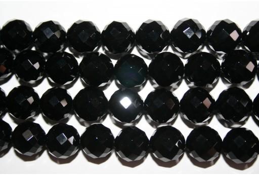 Pietre Dure Onice Nero Sfaccettato - Tondo 16mm - 25pz