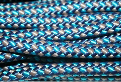 Climbing Cord Poliestere Blue - Grigio Intrecciato 10mm - 1mt
