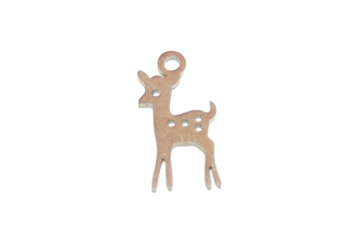 Stainless Steel Charms Deer - 15x8mm - 2pcs