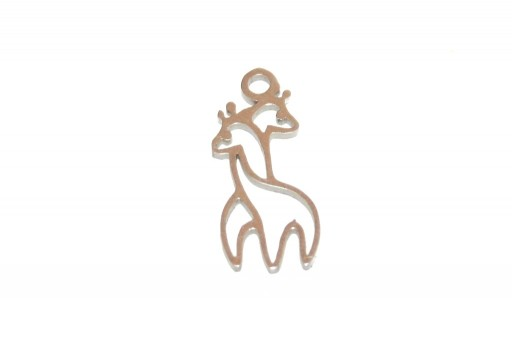 Stainless Steel Charms Giraffe - 17x8mm - 2pcs