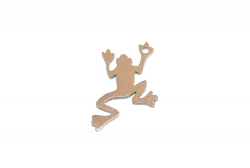 Stainless Steel Charms Frog - 13x10mm - 2pcs