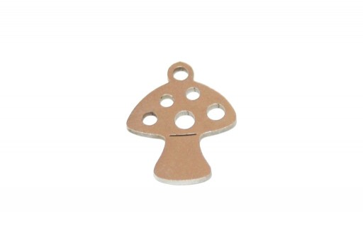 Stainless Steel Charms Mushroom - 14x12mm - 2pcs